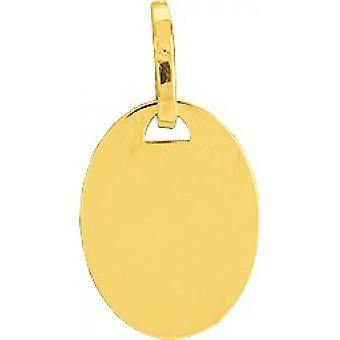 Pendentif Plaque ovale PM or 750/1000 jaune (18K)