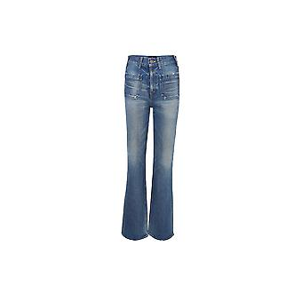 Céline 2n276930f07uw Women's Blue Cotton Jeans