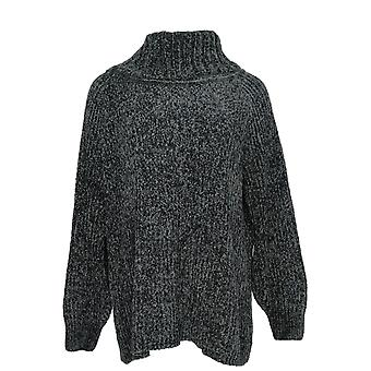 Anybody Women's Sweater Chenille Cowl Neck Black A372138
