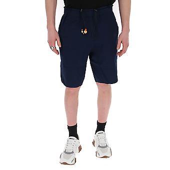 Corelate 213104445 Men's Blue Cotton Shorts