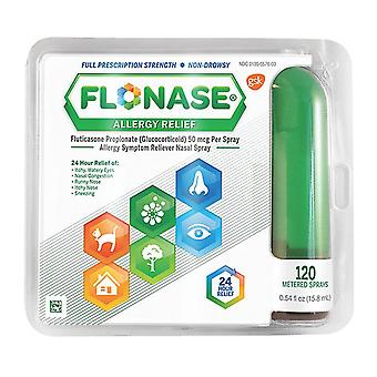 Flonase allergy relief spray, 120 metered sprays, 0.54 oz