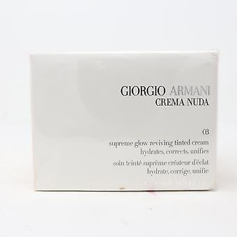 Giorgio Armani Crema Nude Supreme Glow Reviving Tinted Cream 1.69oz  New WithBox