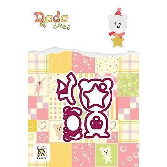 Nellie & apos&s اختيار DADA عيد الميلاد يموت - الدب القطبي DDD015 60x65mm