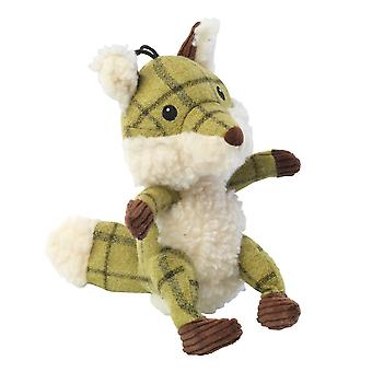 House Of Paws Tweed Plush Fox Dog Toy