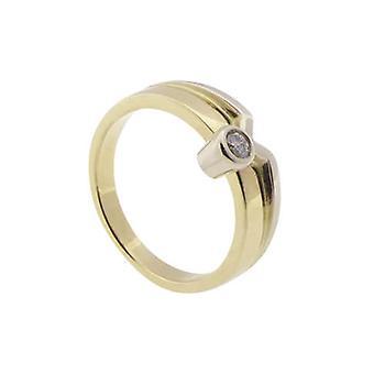 14 carat Christian golden zirconia ring