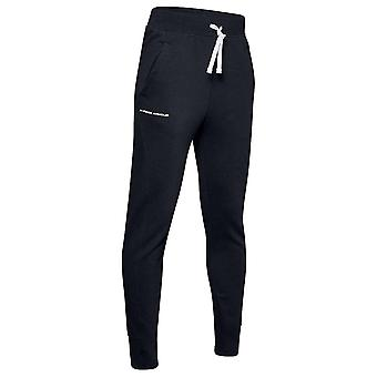 Under Armour Rival Fleece Kids Jogger Tracksuit Pant Trouser Black