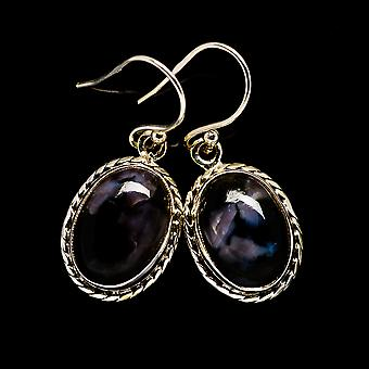 "Gabbro Stone Earrings 1 1/4""  - Handmade Boho Vintage Jewelry EARR399113"