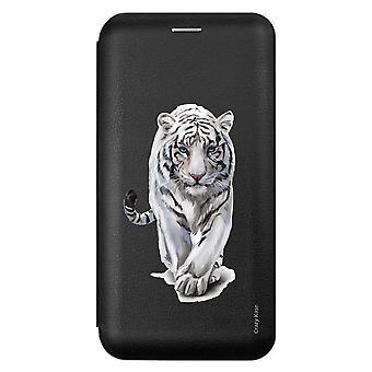 Funda para Samsung Galaxy A51 negro blanco tigre patrón