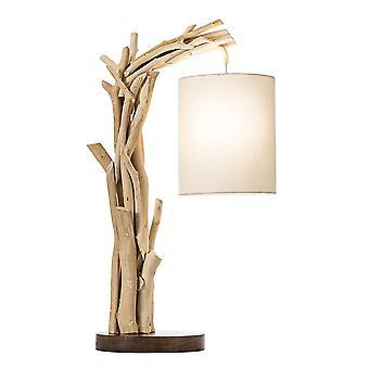 Modern Home Offset Driftwood Nautical Wooden Table Lamp