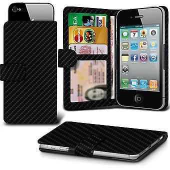 ONX3 (Fibre de carbone) Huawei Mate 9 affaire Premium PU cuir Universal Spring Clamp Etui portefeuille avec appareil photo Slide, porte-cartes de la fente et poche billets
