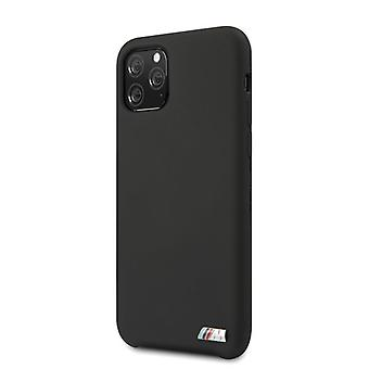 BMW M Plain Silikon Backcover Case iPhone 11 Pro Max - Schwarz