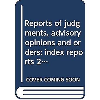 Reports of judgments - advisory opinions and orders - index reports 20