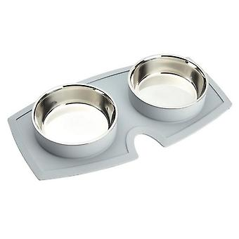 Classic Vacumatt Double Diner Dog Bowls
