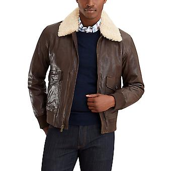 Brooks Brothers Men's Leather Aviator Jacket