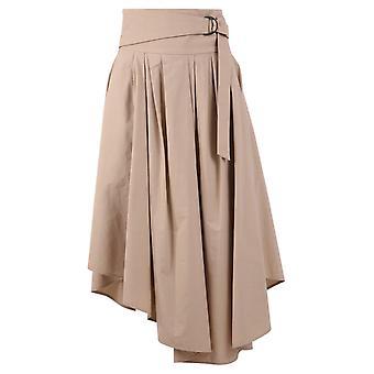 Brunello Cucinelli Mh127g2906c7902 Women's Beige Cotton Skirt