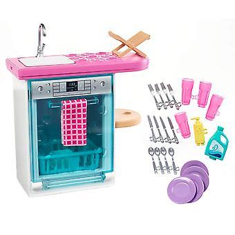Barbie FXG35 indoor meubelen set, met keuken vaatwasser,