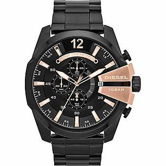דיזל DZ4309 הכרונוגרף שחור חיוג נירוסטה גברים אנלוגיים ' s שעון