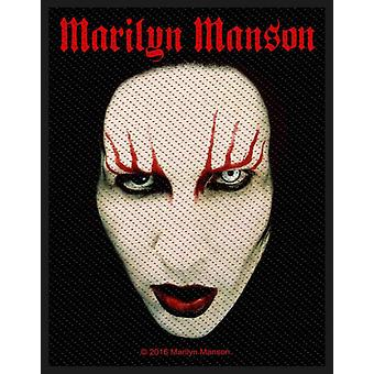 Marilyn Manson Patch Face Logo new Official Woven (10cm x 10cm)