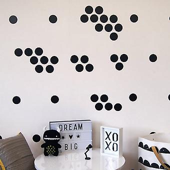 Aufkleber Polka Dots 322 schwarz Farbe in Vinyl, L20xP0, 1xA27 cm