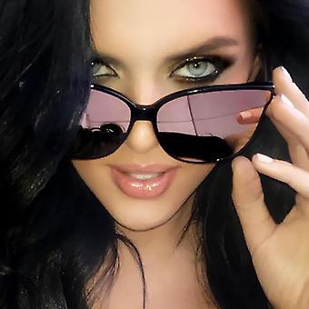 Luxury Flat Top Cat Eye Elegant Sunglasses - Twin Beam Oversized Sun Glasses Uv400
