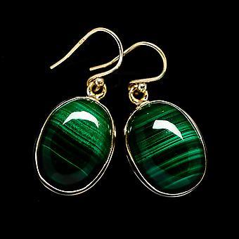 أقراط مالاشيت 1 3/8 & نقلا عن ( 925 الاسترليني الفضة) -- اليدوية اليدوية بوهو خمر مجوهرات EARR403133