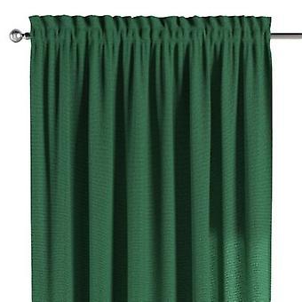 Vorhang mit Tunnel und Köpfchen, grün, 130 × 260 cm, Loneta, 133-18