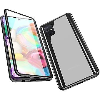 Mobile shell tempered glass for Samsung Galaxy A71 - Black