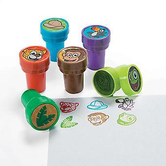 24 Dschungel Themen Selbst Tinte Stamper für Kinder - Party Bag Füllstoffe
