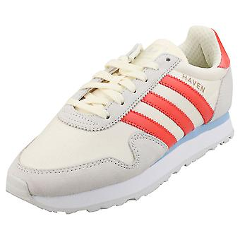 adidas Haven W Womens Fashion Trainers in White Team Red