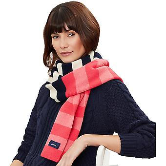 Joules Womens Chillaway Soft Knit Striped Warm Feel Scarf
