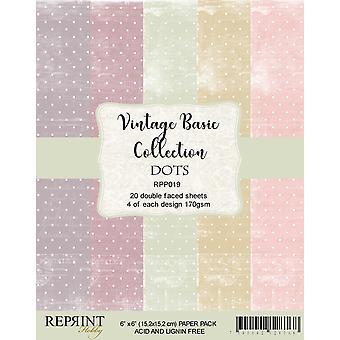 Reprint Dots Basic 6x6 Inch Paper Pack