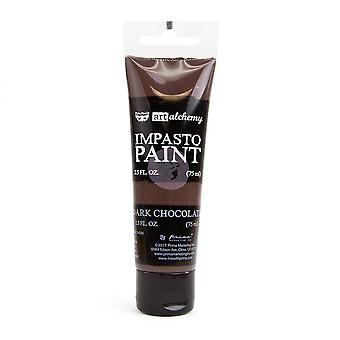 Finnabair Art Alchemy Impasto Paint Dark Chocolate