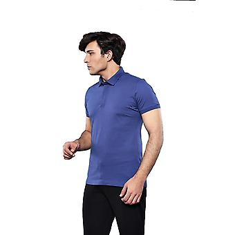 Polo simple indigo t-shirt | wessi