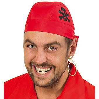 Pirate bandana pirate tissu skull bandana rouge