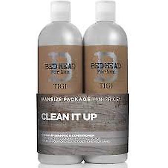 Tigi Duo Pack Bed Head For Men Clean Up 750ml Szampon + 750ml Odżywka