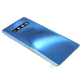 För Samsung Galaxy S10 Plus tillbaka - batterilucka - blå