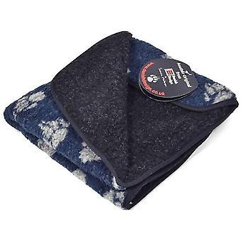 Cobertor dinamarquês de lã de design - Impressão da pata marinha - Grande