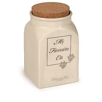 Designed By Lotte Ceramic Treat Jar My Favourite Cat - 18cm