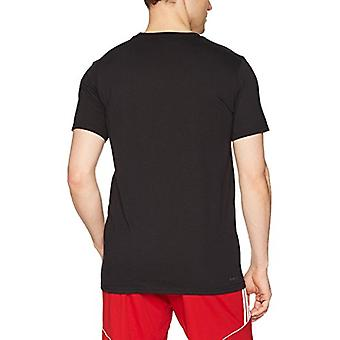 adidas Mens Athletics USA Block Tee, Black/White, X-Large