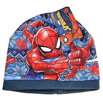 Spider-Man lippis - Tummansininen, Snow Stars