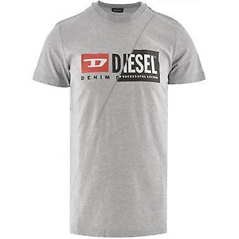 Diesel T Diego Cuty Logo Grey T Shirt