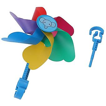 1pc Pvc Colorful Pinwheel Windmill Wind-driven Toy For Bicycle Bike Scooter Gift For Boys Girls Baby