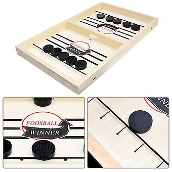 Table Fast Hockey Sling Puck Game Paced Sling Puck Winner Fun, Party For Adult