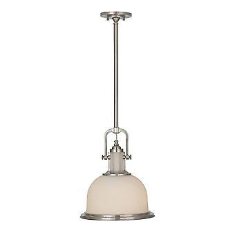1 Licht Koepel plafond hanger geborsteld staal, E27