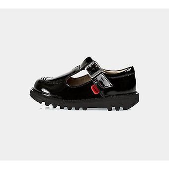 Kickers Kick T-Bar 112531 Patentti Infant Musta Kengät Boots