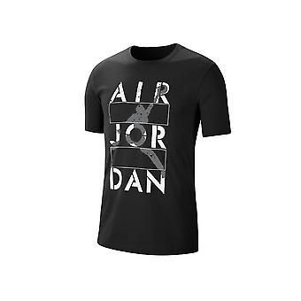 Nike Jordan Stencil Crew CJ6308010 uniwersalny przez cały rok męski t-shirt
