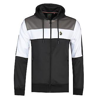 Luke 1977 Baldur Colour Block Hooded Sweatshirt - Black