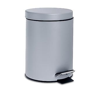 Bathroom Pedal Bin with Removable Inner Bucket, 3 Litres - Grey Finish