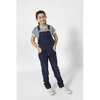 Libby girls denim dungarees - indigo