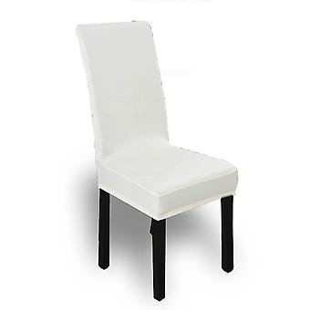 8X Stretch Elastic Chair Covers Dining Room Wedding Banquet Washable White
